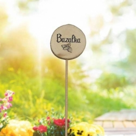 Bohemia Gifts - dřevěné zapichovátko k bylinkám - bazalka
