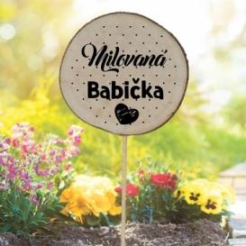 Bohemia Gifts - zapichovátko do květináče pro babičku