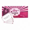 Bohemia Darčeky - Láska karty, karty želanie pre dámy