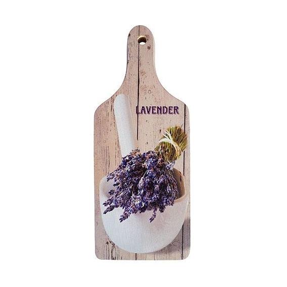 Bohemia Gifts - dekorační kuchyňské prkénko s potiskem - levandule - bílé
