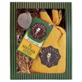 Bohemia Gifts - dárkové balení - bylinný sypaný čaj po náročném večeru 70 g a sítko