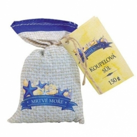 Soľ do kúpeľa v plátenom vrecku s extraktom z morských rias a soli z Mŕtveho mora 150 g