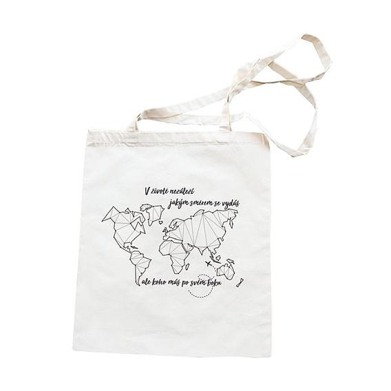 Látková taška 42 x 38 cm - Mapa