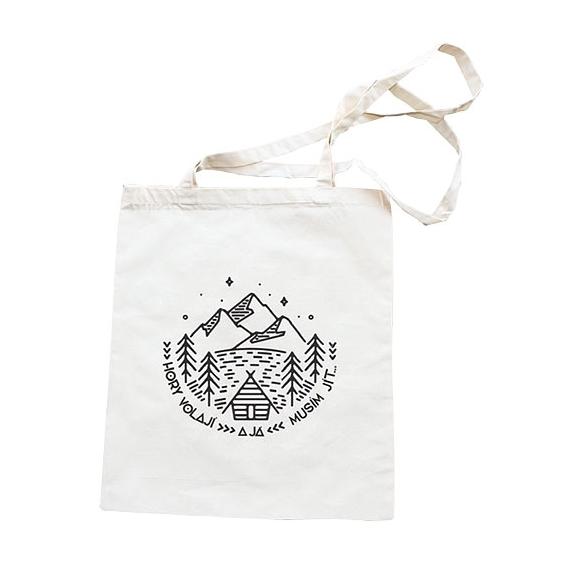 Látkové taška 42 x 38 cm - Hory sú volá