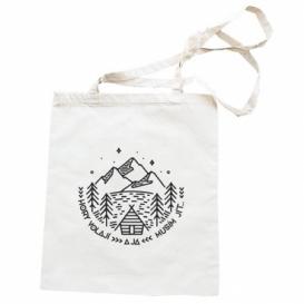 Látková taška 42 x 38 cm - Hory volají