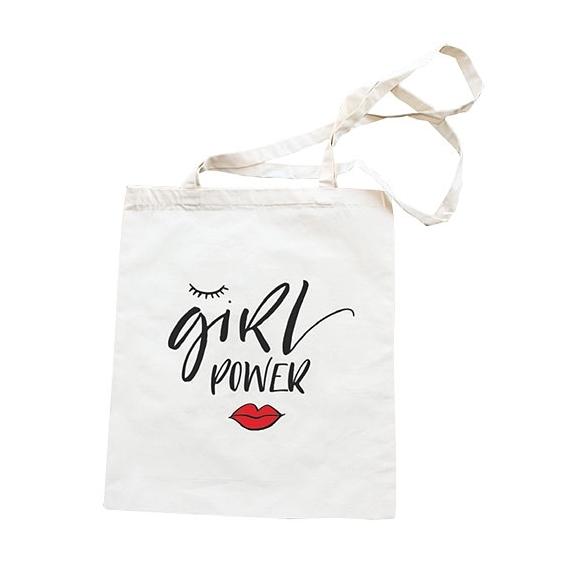 Látkové taška 42 x 38 cm - Dievča moc