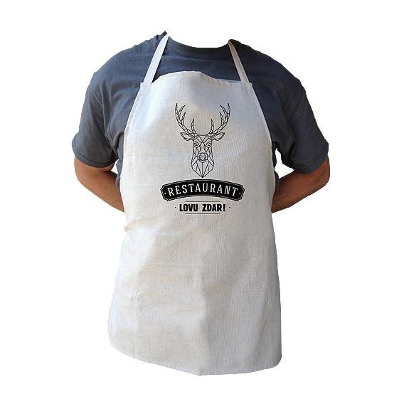 Kuchynská zástera pre poľovníkov LOVU ZDAR (verzia v SK)