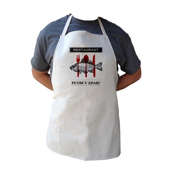 Kuchynská zástera pre rybárov PETROV ZDAR (verzia v SK)