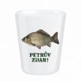 Darčekový porcelánový pohárik pre rybára 0,5 cl - PETROV ZDAR Kapor (verzia v SK)