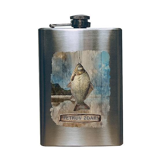 Bohemia Gifts - placatka 200 ml pro rybáře - Petrův zdar