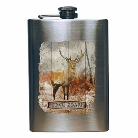 Nerezová ploskačka na alkohol pre poľovníka 200 ml - LOVU ZDAR farebná