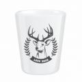 Darčekový porcelánový pohárik pre poľovníka - LOVU ZDAR čiernobiely