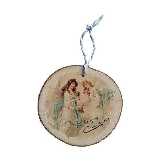 Bohemia Darčeky - drevené vianočné ozdoby - anjeli s zvony