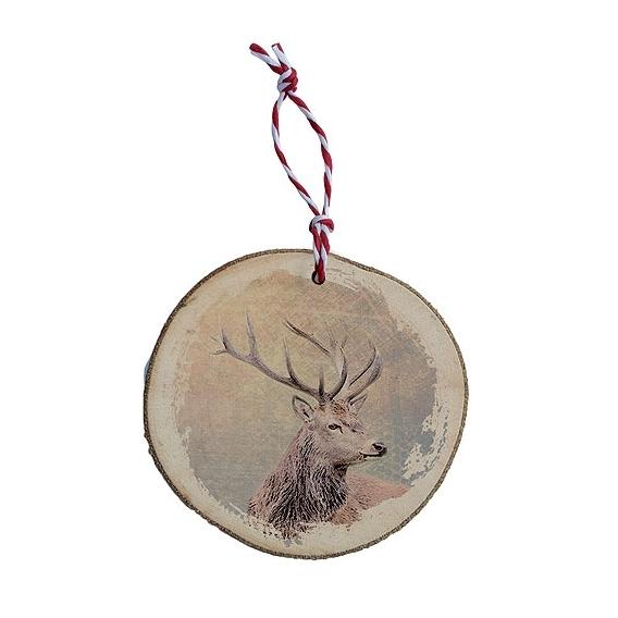 Bohemia Darčeky - drevené vianočné ozdoby - jeleň vo farbe