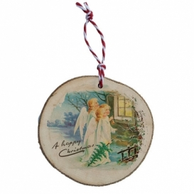 Bohemia Gifts - dřevěná vánoční ozdoba - tři andílci