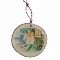 Bohemia Darčeky - drevené vianočné ozdoby - troch anjelov