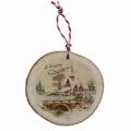 Bohemia Gifts - dřevěná vánoční ozdoba - vánoční vesnice