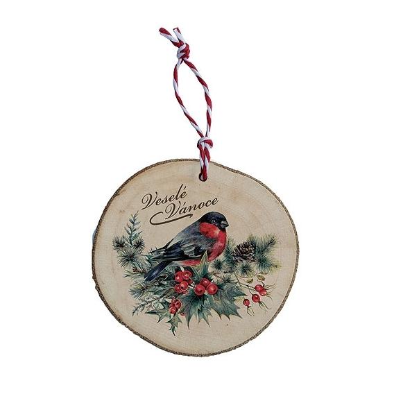 Bohemia Darčeky - drevené vianočné ozdoby - vták