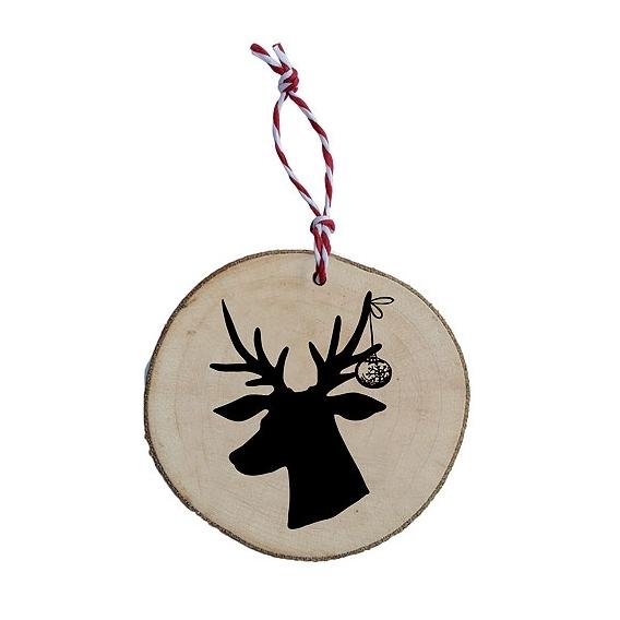 Bohemia Gifts - dřevěná vánoční ozdoba – jelen černý