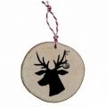 Bohemia Darčeky - drevené vianočné ozdoby – jeleň čierna