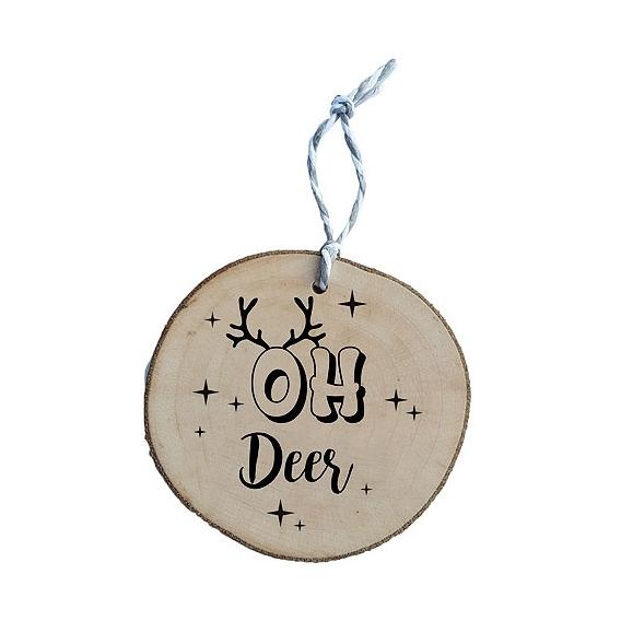 Bohemia Gifts - dřevěná vánoční ozdoba - Oh Deer