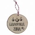 Bohemia Gifts - dřevěná vánoční ozdoba - Ladovská zima