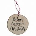 Bohemia Gifts - Dřevěná vánoční ozdoba - Believe in Christmas