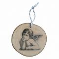 Bohemia Gifts - dřevěná vánoční ozdoba - anděl