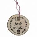 Bohemia Gifts - dřevěná vánoční ozdoba - Harry jdu do baráku