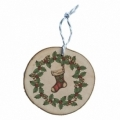 Bohemia Gifts - dřevěná vánoční ozdoba - vánoční punčocha