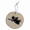 Bohemia Darčeky - drevené vianočné ozdoby - anjel s trúba