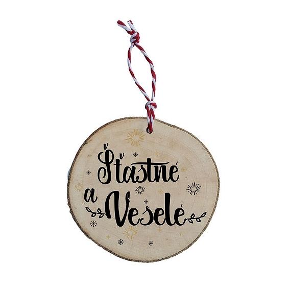 Bohemia Darčeky - drevené vianočné ozdoby - Veselé vianoce