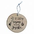 Bohemia Gifts - dřevěná vánoční ozdoba - těšíme se na Ježíška