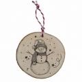 Bohemia Darčeky - drevené vianočné ozdoby - snehuliak