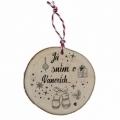 Bohemia Gifts - dřevěná vánoční ozdoba - Já sním o Vánocích