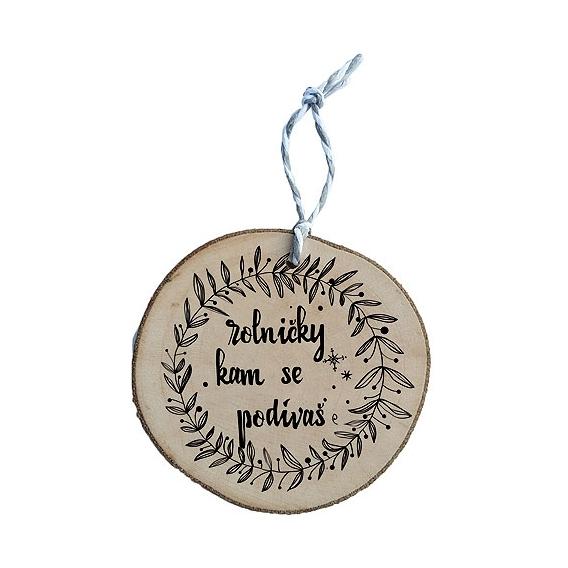 Bohemia Gifts - dřevěná vánoční ozdoba - Rolničky