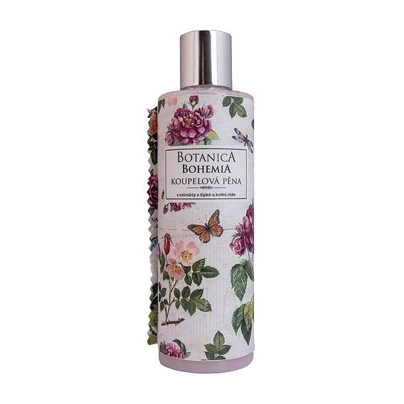 Botanica Bohemia krémová kúpeľové peny 250 ml - rose hips a rose