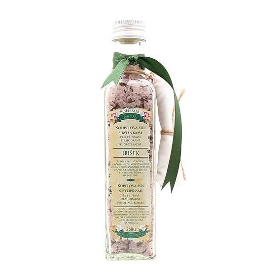 Bohemia Natur - koupelová sůl s bylinkami 260 g - relaxační s ibiškem