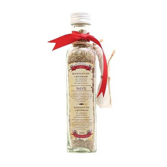 Bohemia Natur - kúpeľové soli s bylinkami 260 g - stimulant s šalvia