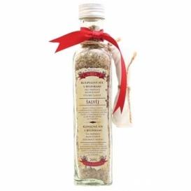 Soľ do kúpeľa s bylinkami povzbudzujúca so šalviou v skle 260 g