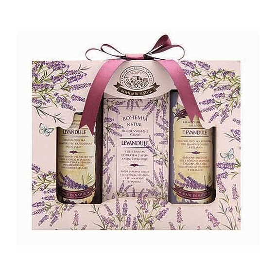 Bohemia Natur – kosmetika levandule -  gel, mýdlo a šampon