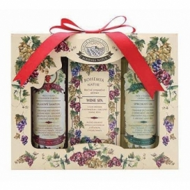 Bohemia Natur - dárkové balení - Wine Spa - gel + mýdlo + šampon