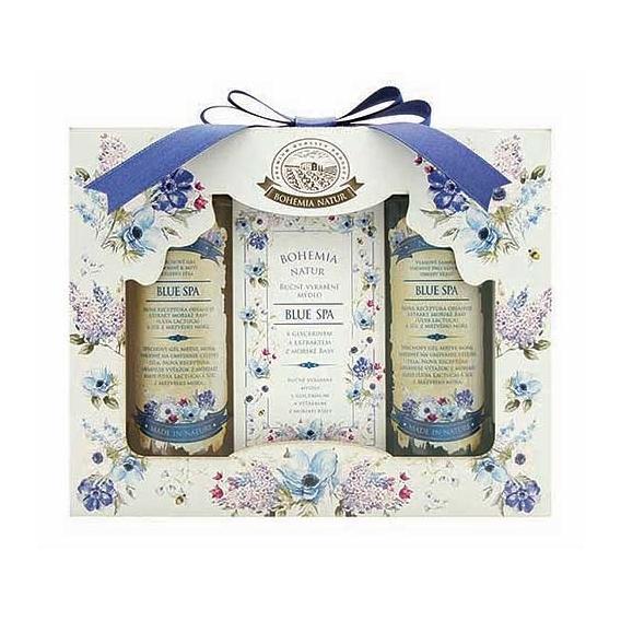 Bohemia Natur darčekové balíčky kozmetiky - Modrá Spa - gel + mydlo + šampón