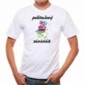Pivrne - tričko s potlačou - počítač, narkoman