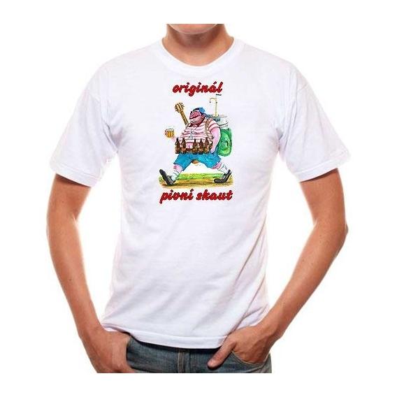Pivrnec - tričko s potiskem pro pivaře - pivní skaut