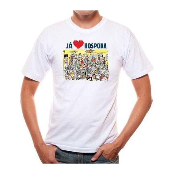 Pivrnec - tričko s potiskem do hospody - Já miluji hospodu