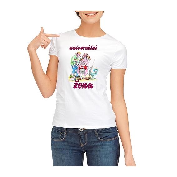 Pivrnec - dámské tričko s potiskem - univerzální žena