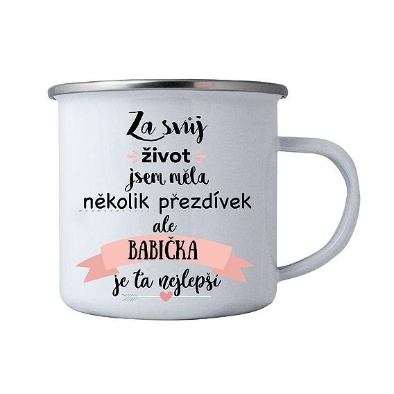 Bohemia Darčeky - tin cup pre babičku