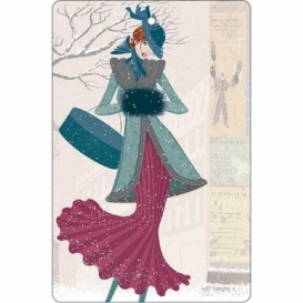Bohemia Gifts - ručně parfémovaná aromatická karta - zima
