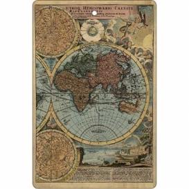 Bohemia Gifts - ručně parfémovaná aromatická karta - mapa
